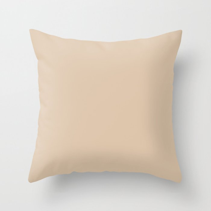 Light Beige Solid Hue - 2022 Color - Shade Dunn and Edwards Cliff's View DEC720 Throw Pillow