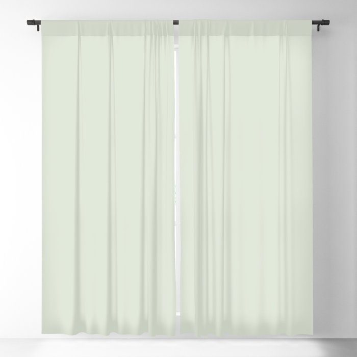 Light Mint Green Solid Color - Popular Shade 2022 PPG Lime Daiquiri PPG1127-1 Blackout Curtain