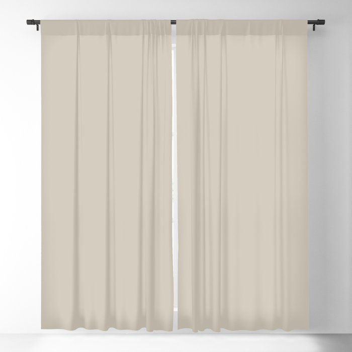 Light Tan Solid Color 2022 Trending Hue Sherwin Williams Accessible Beige SW 7036 Blackout Curtain