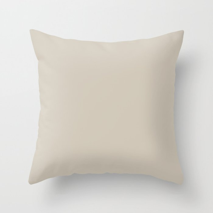 Light Tan Solid Color 2022 Trending Hue Sherwin Williams Accessible Beige SW 7036 Throw Pillow