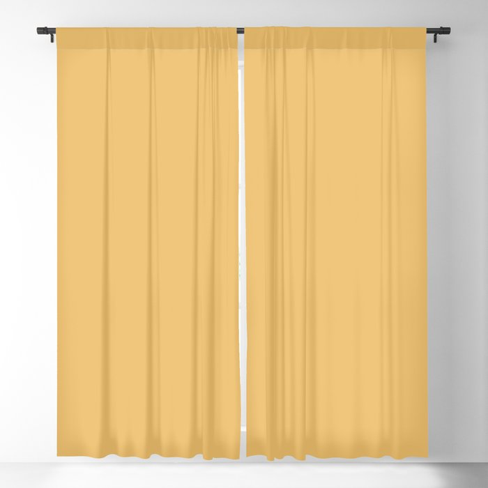 Medium Golden Yellow Solid Color 2022 - 2023 Autumn - Winter Trending Hue Coloro Honeycomb 034-76-27 Blackout Curtain