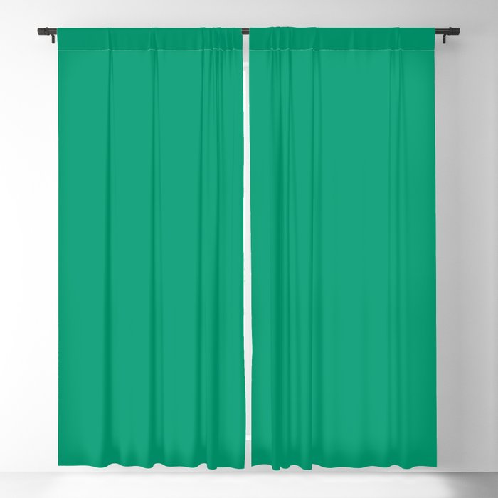Medium Green Solid Hue - 2022 Color - Shade Pairs Dunn and Edwards Rain Forest DE5684 Blackout Curtain