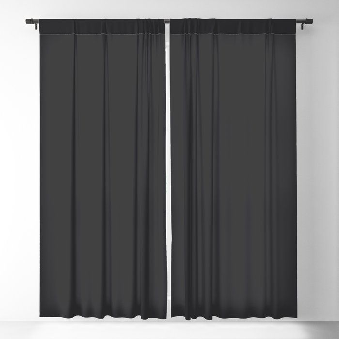 Midnight Solid Color 2022 Spring/Summer Trending Hue Coloro Black 153-19-00 Blackout Curtain