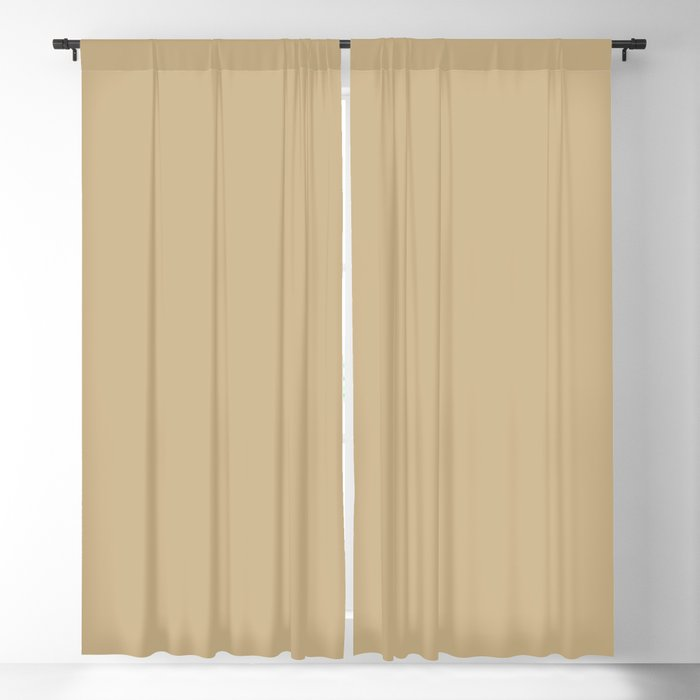 Mossy Mid-tone Yellow Solid Color - Popular Shade 2022 PPG Somber PPG1093-4 Blackout Curtain