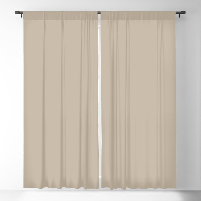 Neutral Beige Solid Color 2022 Spring/Summer Trending Hue Coloro Clay 035-75-06 Blackout Curtain