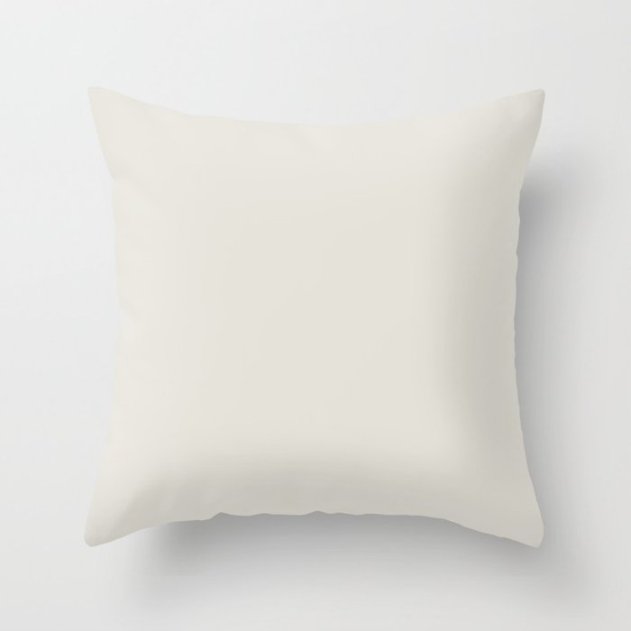 Neutral Off White Solid Color Pairs Valspars 2022 Color of the Year Gilded Linen 6002-1A Throw Pillow