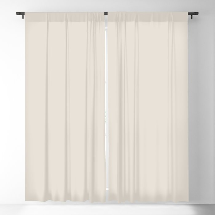 Off White Solid Color 2022 Trending Hue Sherwin Williams Shoji White SW 7042 Blackout Curtain