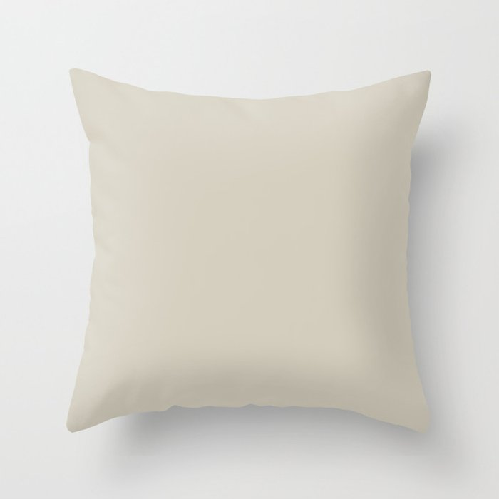 Pale Beige Solid Hue - 2022 Color - Shade Dunn and Edwards Bay Salt DET642 Throw Pillow