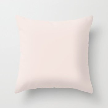 Neutral Pastel Pink Solid Color - Popular Shade 2022 PPG Just Gorgeous PPG1047-3 Throw Pillow