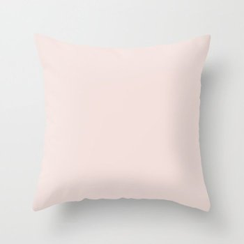 Pastel Pink Solid Color - Shade - Hue - Colour 2 Throw Pillow