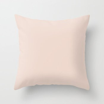 Pastel Pink Solid Color - Shade - Hue - Colour 1 Throw Pillow
