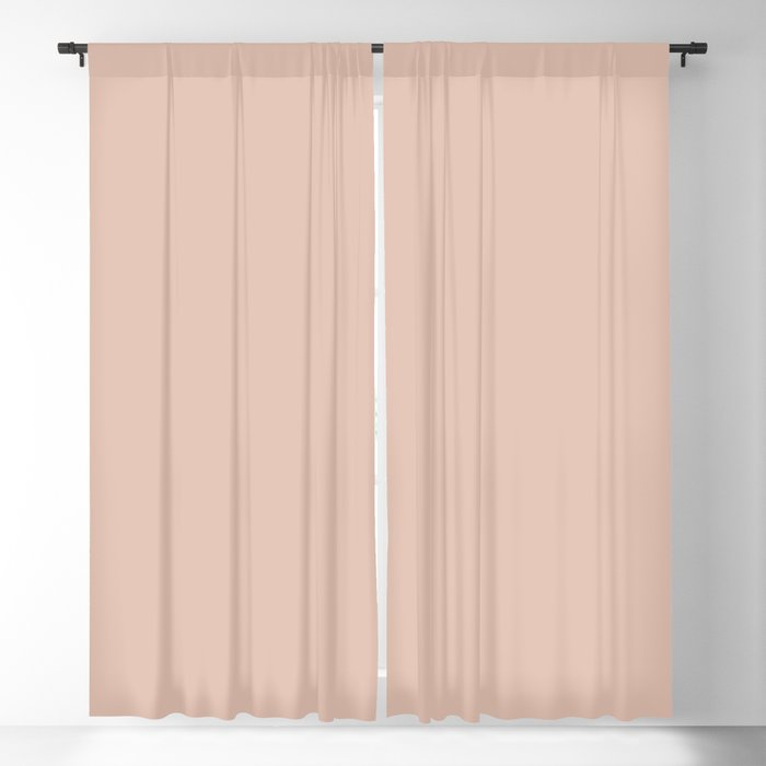 Peaceful Allure Pastel Pink Solid Color Pairs Behr 2022 Trending Hue - Sunwashed Brick S180-2 Blackout Curtain