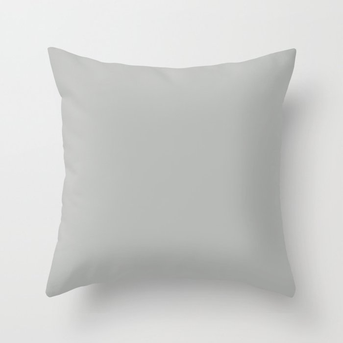 Poised Mid-tone Gray Solid Color Pairs Behr 2022 Trending Hue - Shade - Lunar Surface N460-3 Throw Pillow