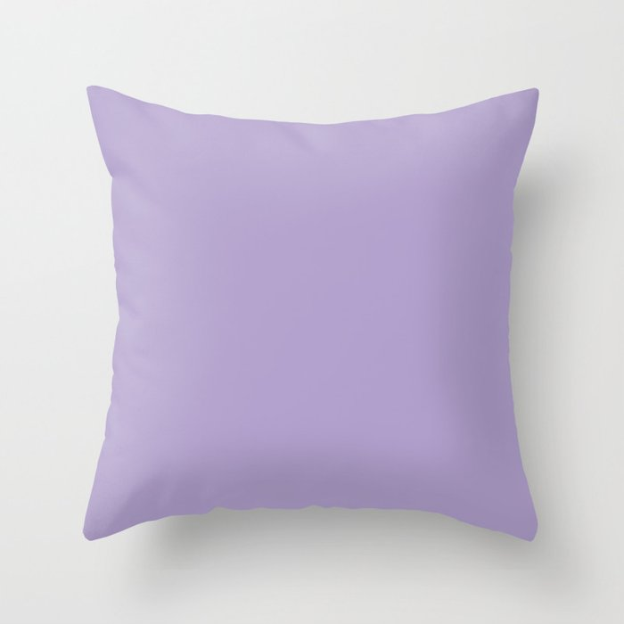 Pastel Lilac Solid Color Throw Pillow Pairs Pantone Purple Rose 15-3716 2022 Summer Trending Shade - Hue - Colour