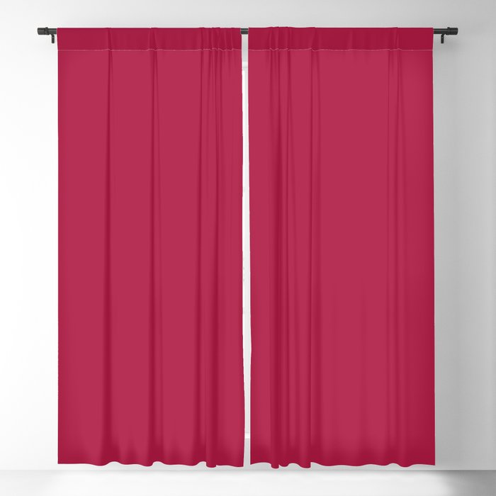 Vivid Red Solid Color 2022 - 2023 S/S Trending Hue Coloro Electric Magenta 001-35-31 Blackout Curtain