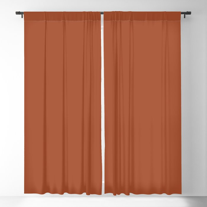 Warm Dark Brown Clay Solid Color 2022 S/S Trending Hue Coloro Ginger Biscuit 022-40-26 Blackout Curtain