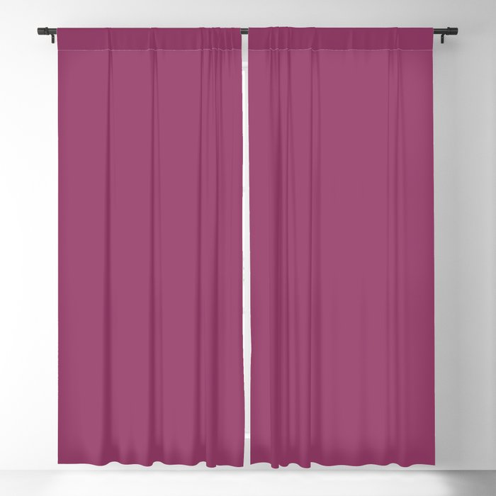 Deep Purple Pink Solid Color 2022 Trending Hue Sherwin Williams Dynamo SW 6841 Blackout Curtain