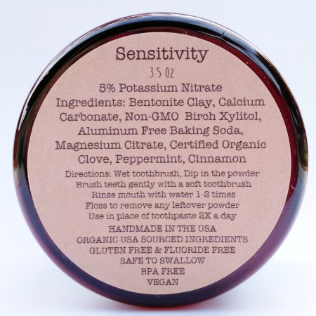sensitivity bottom