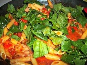Cooking Chicken Sausage and Veggie Pasta