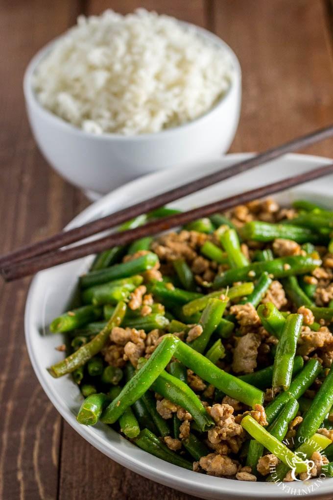 Catz in the Kitchen | Szechuan Green Beans and Pork