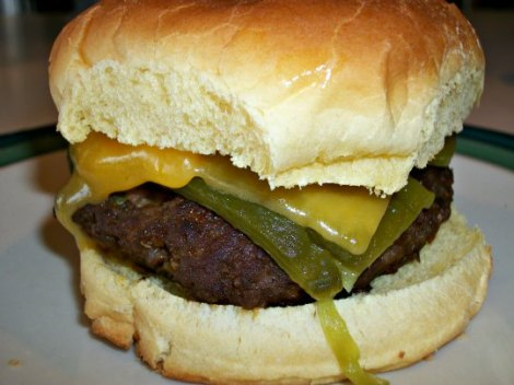 Finished Cream Cheese Burger
