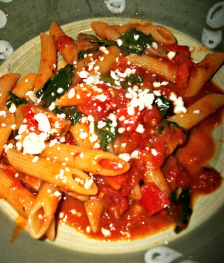 More Chicken Sausage and Veggies with Penne Pasta