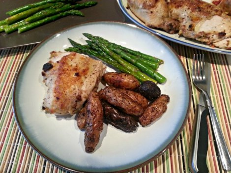 Chicken Ballotine with Roasted Potatoes and Asparagus