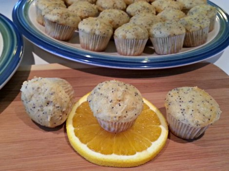 Orange Ricotta Poppy Seed Muffins