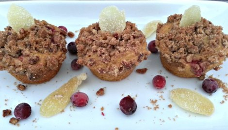 Muffins on white dish