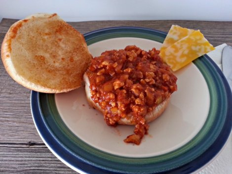 Open Sloppy joe with Cheese