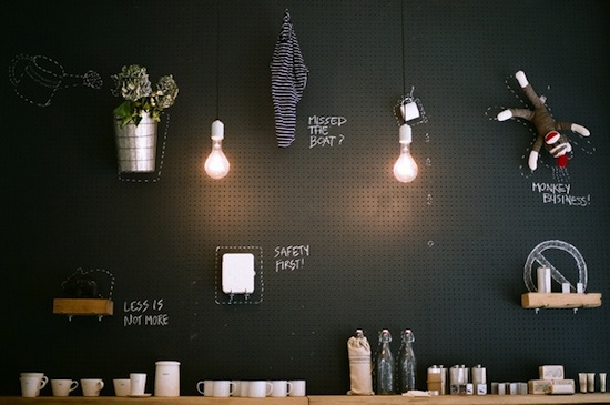 Chalkboard Pegboard // Pegboards That Live Outside The Box // simplyspaced.com