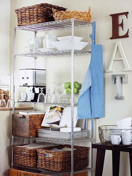 Party Central // 7 Ways to Organize Using Wire Shelving // simplyspaced.com