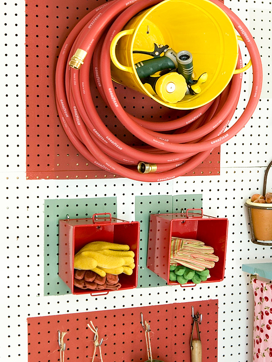 Hanging Bin Storage // Pegboards That Live Outside The Box // simplyspaced.com
