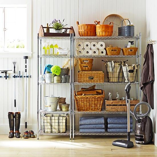 Garage Back-Stock Storage // 7 Ways to Organize Using Wire Shelving // simplyspaced.com