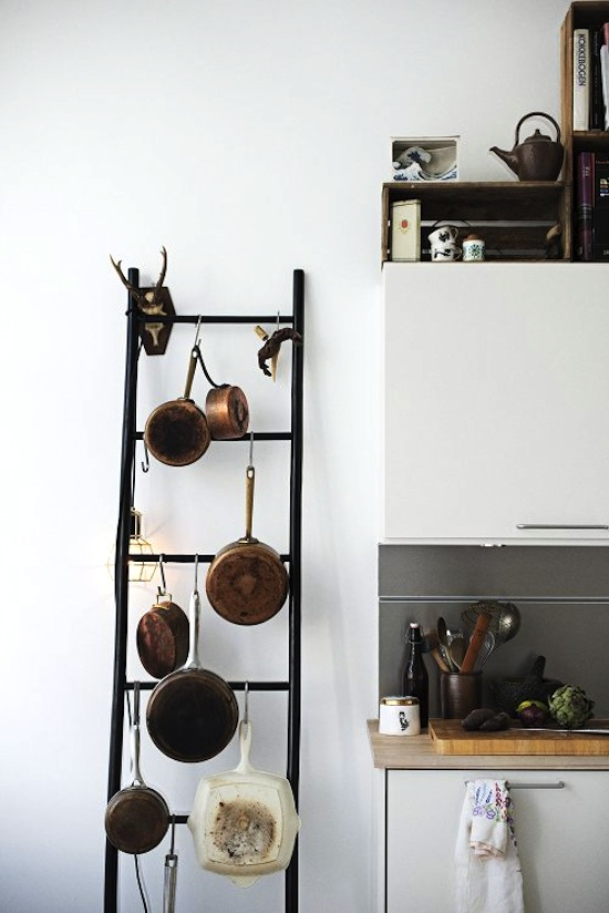 S-Hooks for Pots and Pans // 14 ways to Organize with S-Hooks // simplyspaced.com