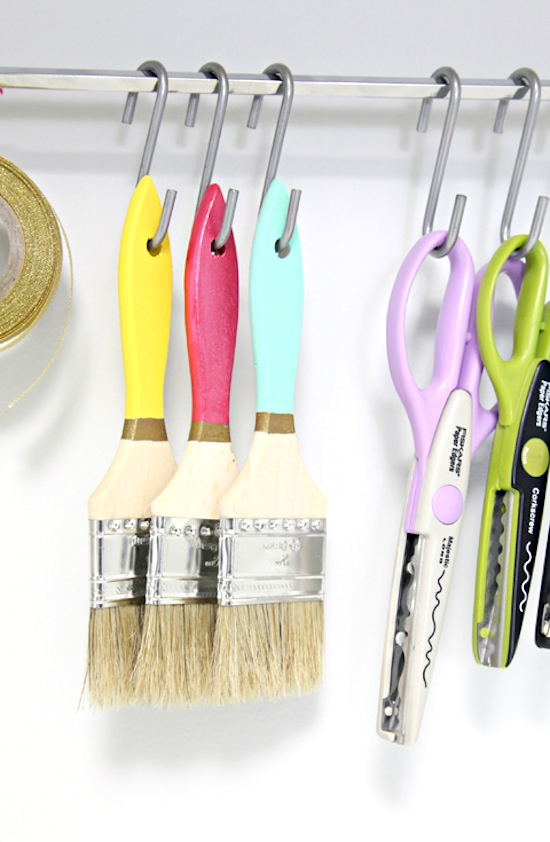 S-Hooks for Craft and Office Supplies // 14 ways to Organize with S-Hooks // simplyspaced.com