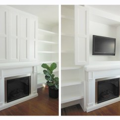 Hiding Tv In Living Room Decorating Ideas For Rooms With Built Shelves Storage Solution Hidden Flat Screen Television Simply Spaced A Cabinet