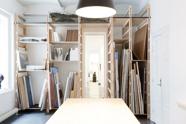 Have a Functional Storage Space For Your Finished Work // 12 Creative Spaces for the Organized Artist // simplyspaced.com