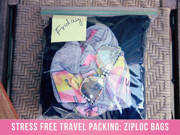 Travel Packing Organizing // How to Organize your Entire Life with Ziploc Bags // #travel #organizing // simplyspaced.com