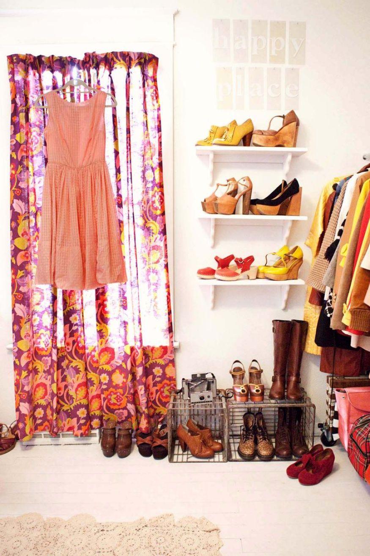 How to Organize your shoes // organized closet // cute closet ideas // www.simplyspaced.com