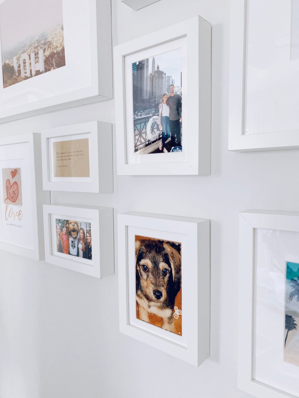 How to organize your bedroom and create a gallery wall