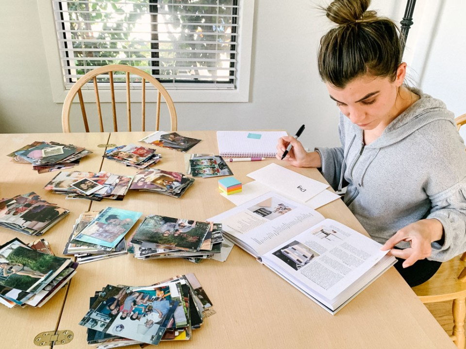 Nicole organizing her printed photo collection using the Simply Spaced 3 step Method