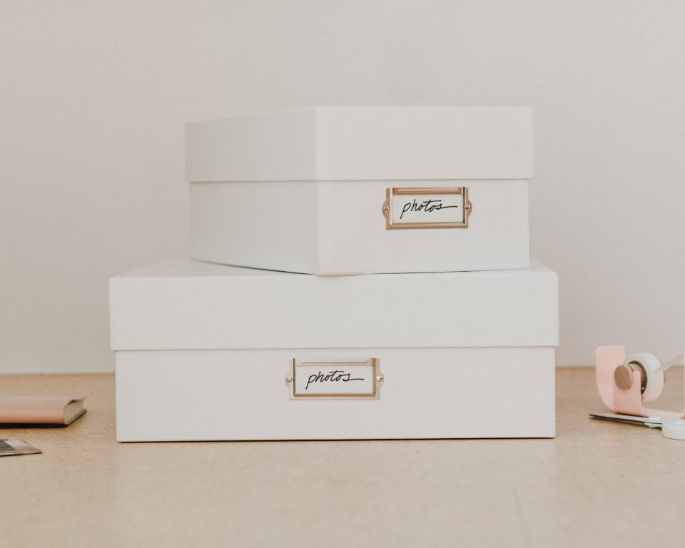 The perfect photo and memento storage boxes