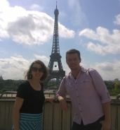 My roommate Stephen and I in Paris during our backpacking trip.