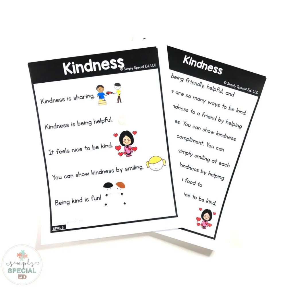 medium resolution of Kindness Story - Simply Special Ed