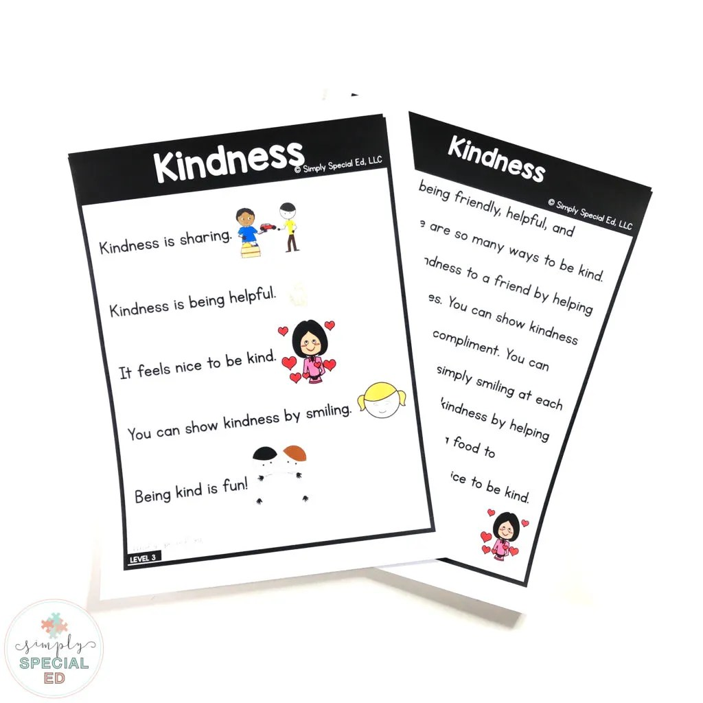 hight resolution of Kindness Story - Simply Special Ed