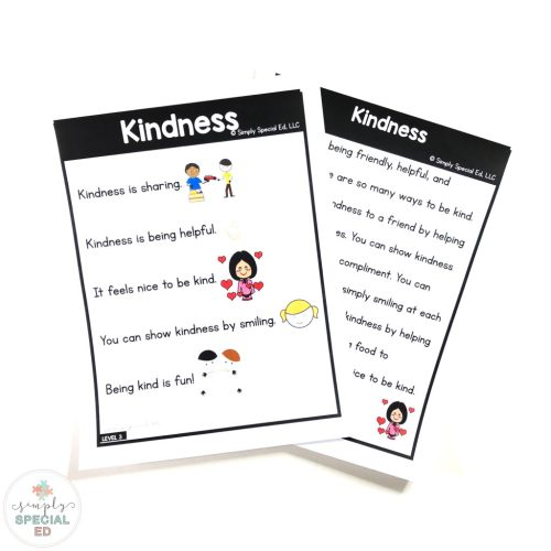 small resolution of Kindness Story - Simply Special Ed