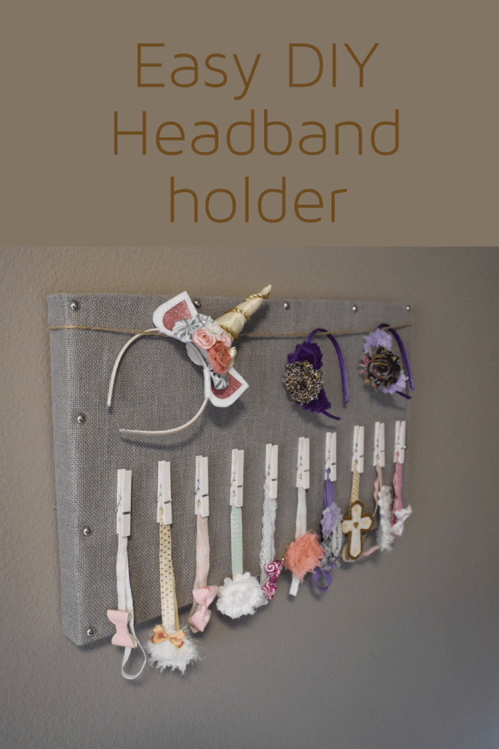 Easy DIY Headband Holder