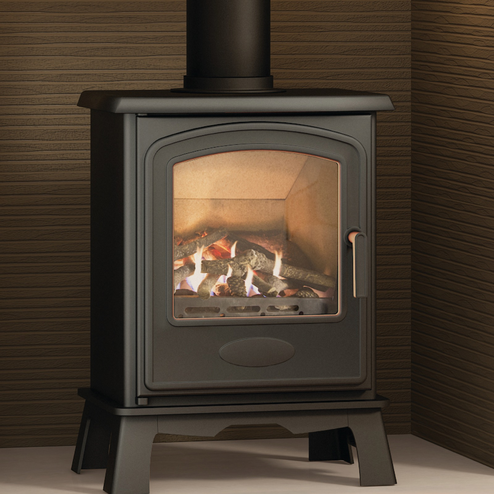 Broseley Hereford 5 Conventional Flue Natural Gas Stove