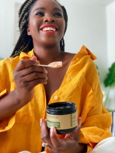 Black owned skincare and wellness body scrub and body butter